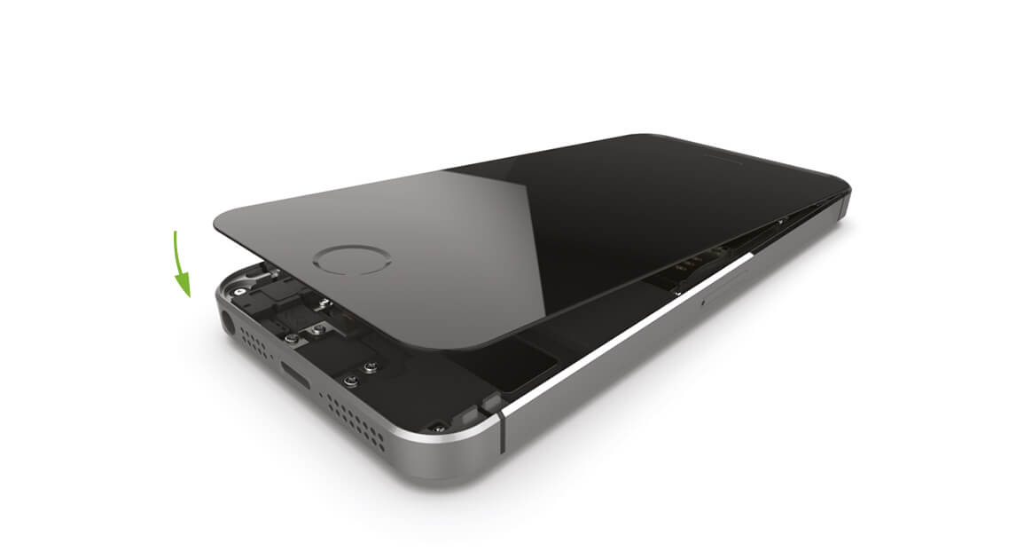 iPhone 5s Display wieder anbringen