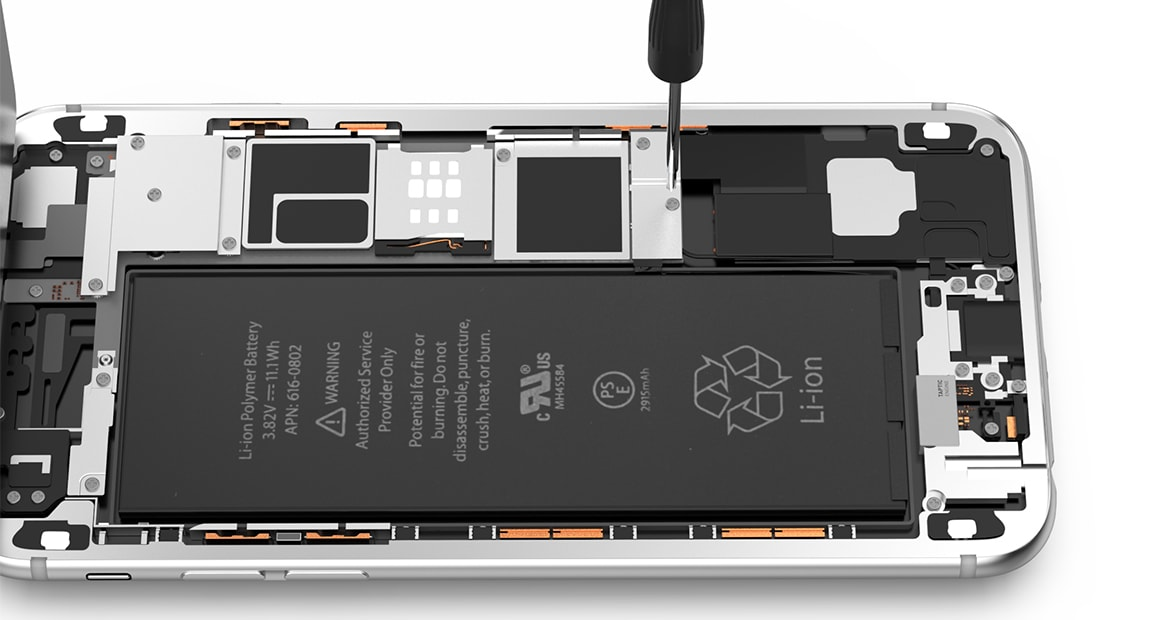Hagnaven iPhone 6s Plus Monter la batterie